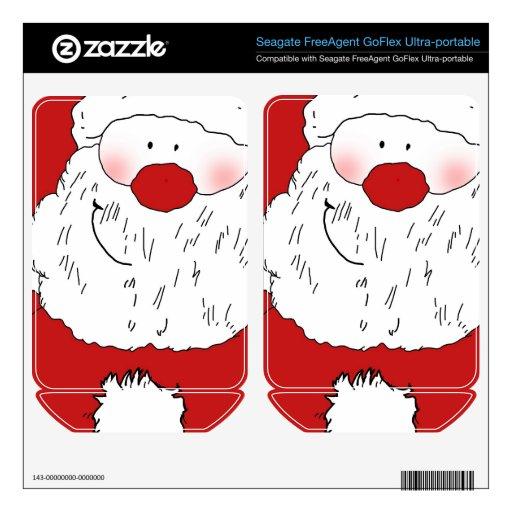 Cute Blushing Santa FreeAgent GoFlex Skin