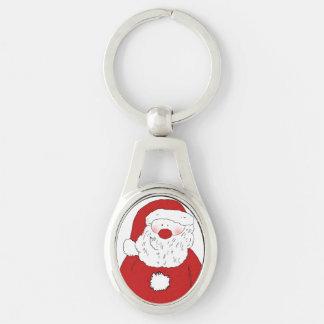 Cute Blushing Santa Keychain