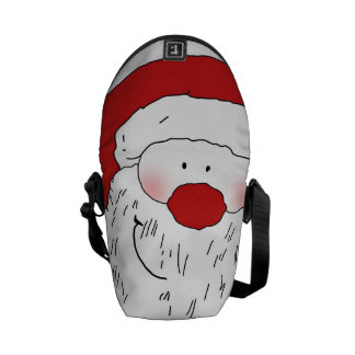 Cute Blushing Santa Messenger Bag