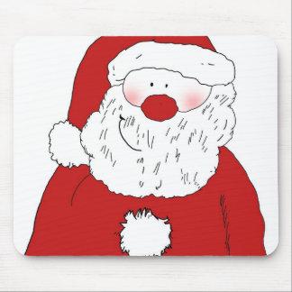 Cute Blushing Santa Mouse Pad