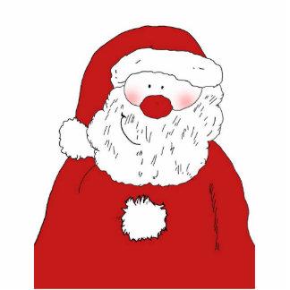 Cute Blushing Santa Cut Outs