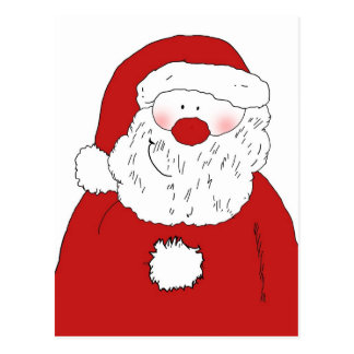 Cute Blushing Santa Postcard