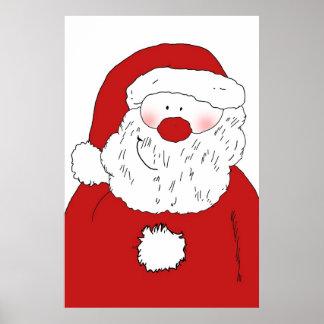Cute Blushing Santa Posters
