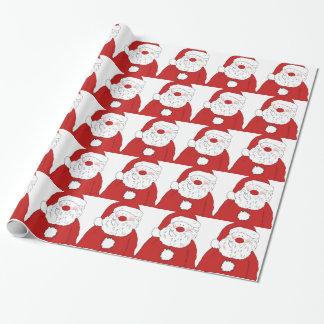 Cute Blushing Santa Gift Wrap