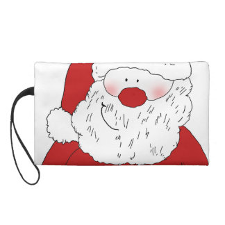 Cute Blushing Santa Wristlet Purse