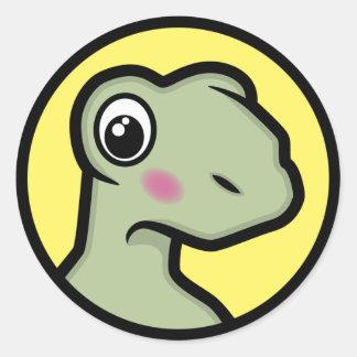 Cute Blushing Tortoise Sticker