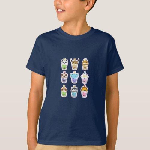 Cute Boba Tea T_Shirt