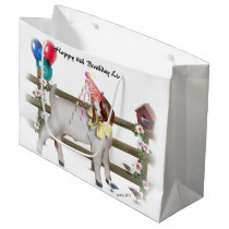Cute Boer Birthday Goat Gift Bag