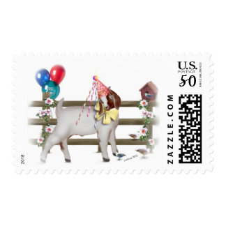 Cute Boer Goat Birthday Party Postage