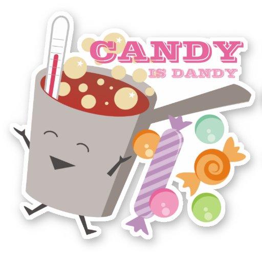 Cute boiling sugar pot candy is dandy sticker
