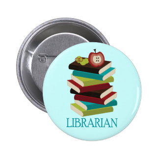 Cute Book Stack Librarian Gift Pins