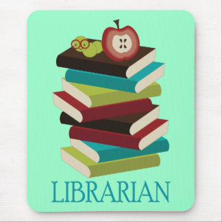 Cute Book Stack Librarian Gift Mouse Pads