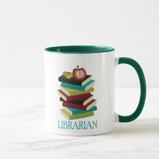Cute Book Stack Librarian Gift Mug