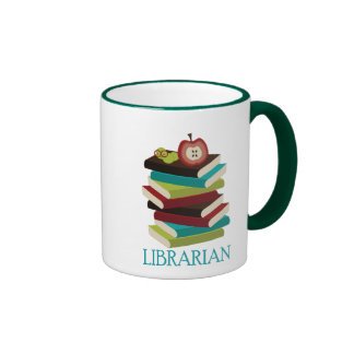 Cute Book Stack Librarian Gift Mugs