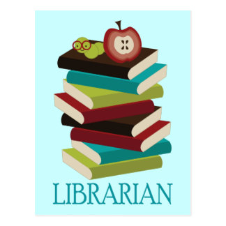 Cute Book Stack Librarian Gift Postcard