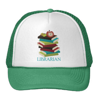 Cute Book Stack Librarian Gift Trucker Hat
