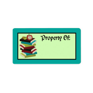 Cute Book Stack Reading Bookplate Stickers Gift