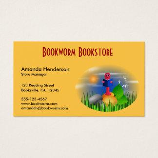 Cute Book Store Bookworm Business Cards