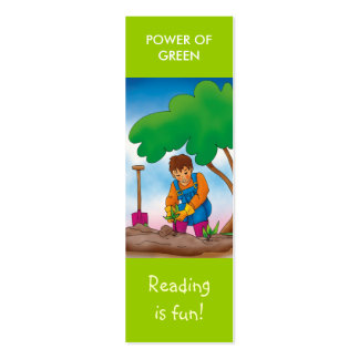 Cute bookmark for young books lovers! mini business card