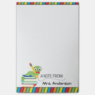 Cute Bookworm, A Note From Teacher, Personalized
