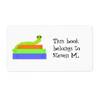 Cute Bookworm Bookplate