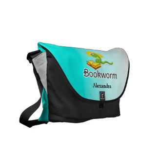 Cute Bookworm w/Glasses Courier Bag