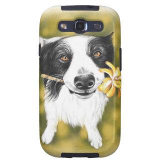 Cute border Collie Samsung Galaxy SIII Covers