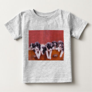 Cute Border Collie Puppies Infant Shirt