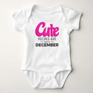 Cute Born In December Babies Birthday Design Baby Bodysuit
