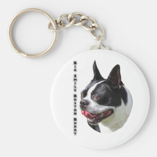 Cute Boston Bull Terrier Multi Products Selected Basic Round Button Keychain