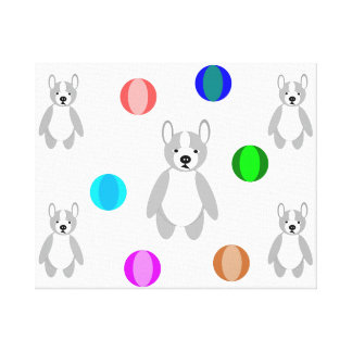 cute Boston Puppies Boston terrier Canvas Print