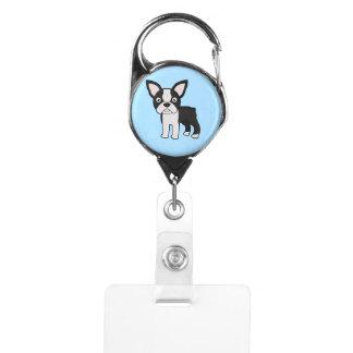 Cute Boston Terrier Badge Holder