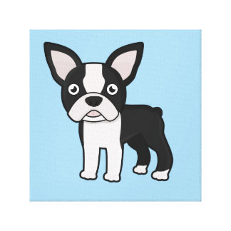 Cute Boston Terrier Canvas Print