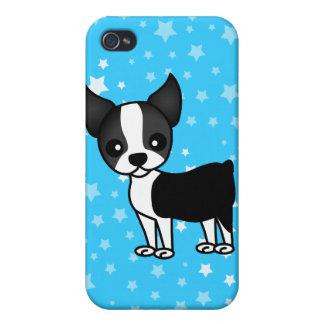 Cute Boston Terrier Cartoon Cases For iPhone 4