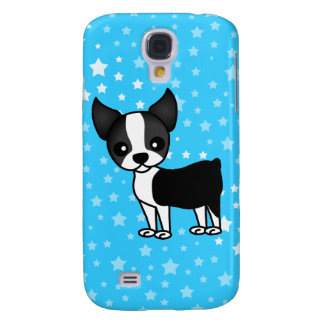 Cute Boston Terrier Cartoon Samsung Galaxy S4 Case