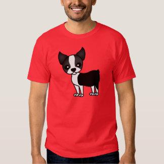 Cute Boston Terrier Cartoon T-Shirt