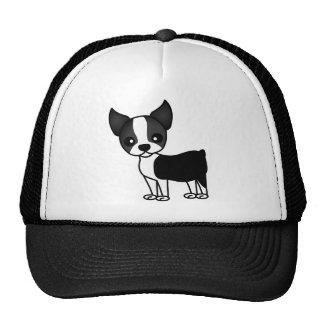 Cute Boston Terrier Cartoon Trucker Hat