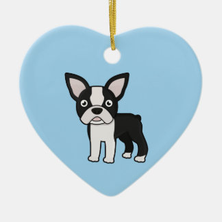 Cute Boston Terrier Ceramic Ornament