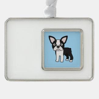 Cute Boston Terrier Christmas Ornament