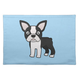 Cute Boston Terrier Cloth Placemat
