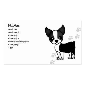 Cute Boston Terrier Dog Business Card