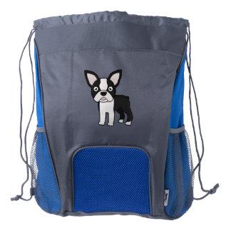 Cute Boston Terrier Drawstring Backpack