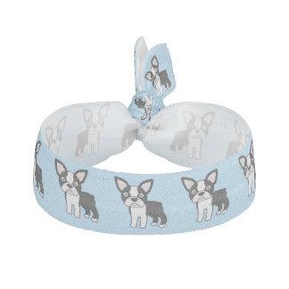 Cute Boston Terrier Elastic Hair Tie