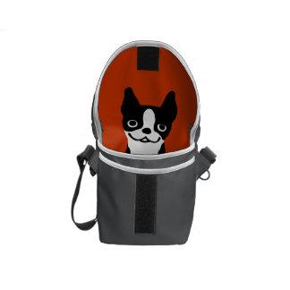 Cute Boston Terrier Inside - Custom Colors Courier Bag