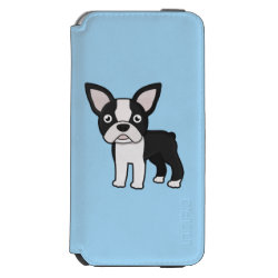 Incipio Watson™ iPhone 6 Wallet Case with Boston Terrier Phone Cases design