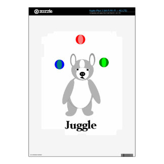 Cute Boston Terrier Juggling puppy Decals For iPad 3