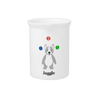 Cute Boston Terrier Juggling puppy Drink Pitchers