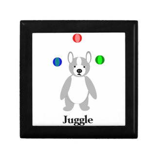 Cute Boston Terrier Juggling puppy Gift Box