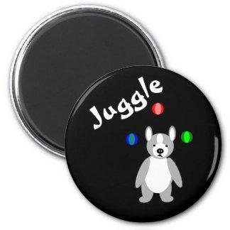Cute Boston Terrier Juggling puppy Magnet