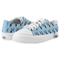Cute Boston Terrier Low-Top Sneakers